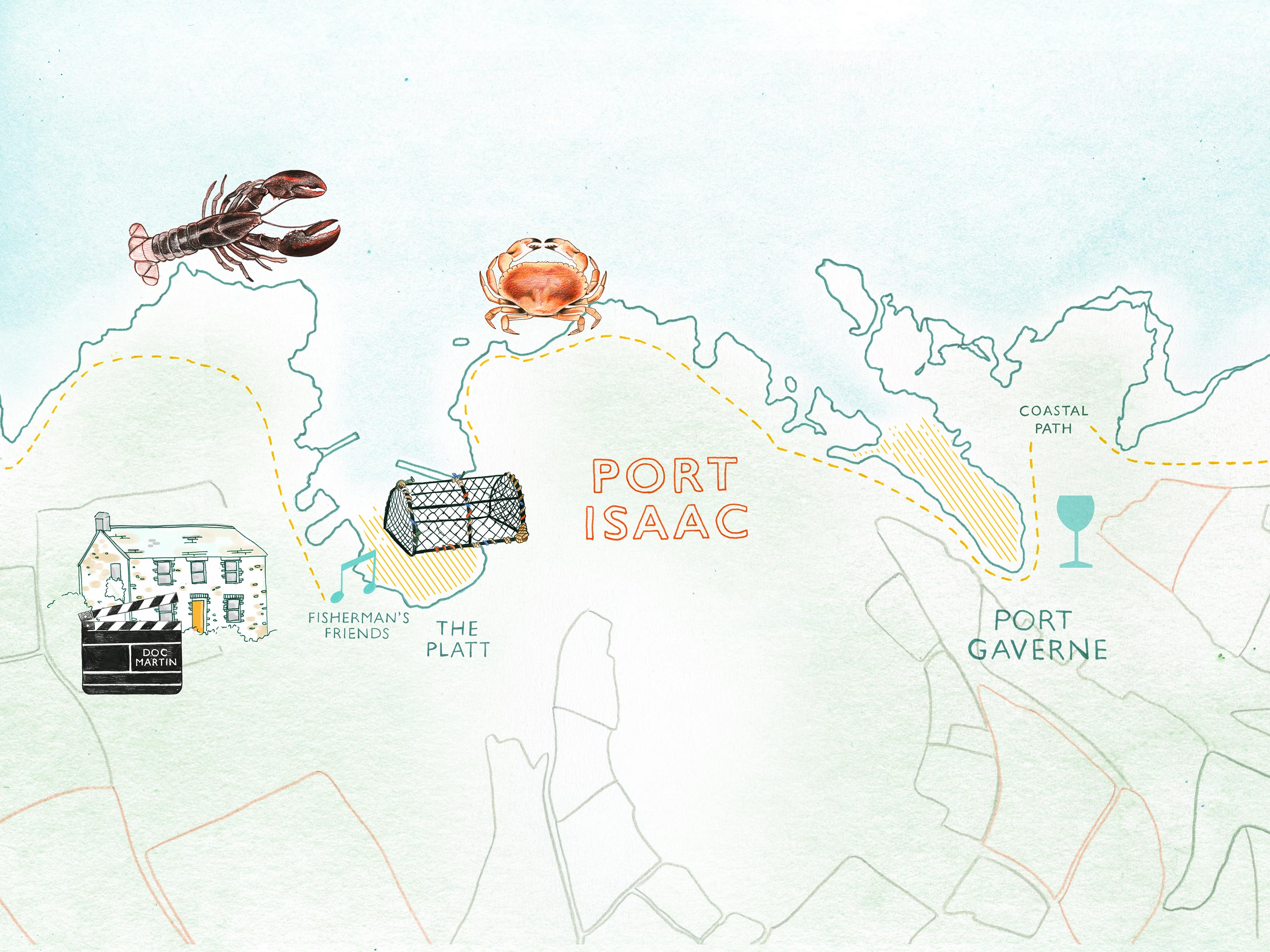 Map of Port Isaac