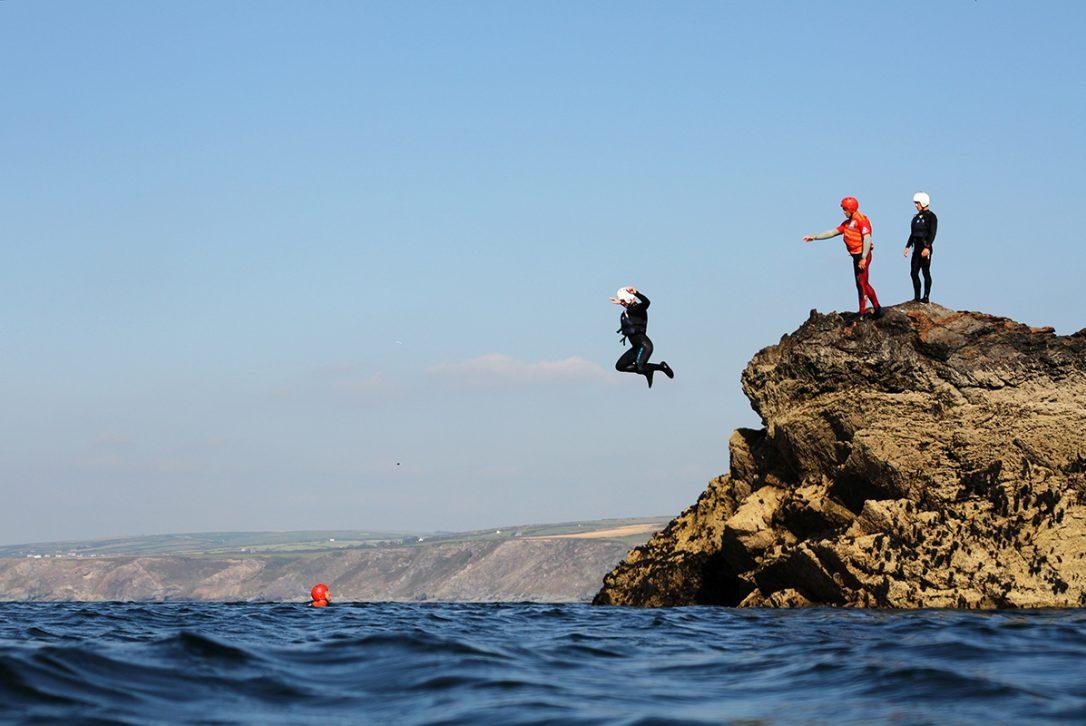 Coasteering with Cornish Rock Tors in North Cornwall