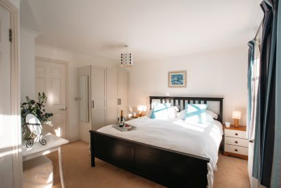 Master bedroom at 1 Lowenna Manor, a self-catering holiday home in Rock, North Cornwall