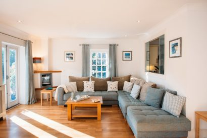 Lounge at 1 Lowenna Manor, a self-catering holiday home in Rock, North Cornwall