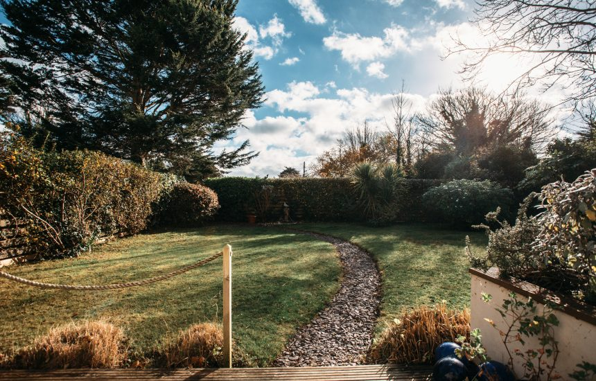 Garden at 1 Lowenna Manor, a self-catering holiday home in Rock, North Cornwall