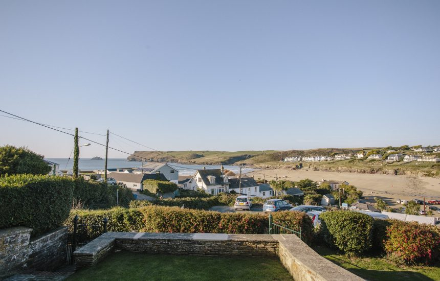 View from No 2 Pentire View, a self-catering holiday home in Polzeath, North Cornwall