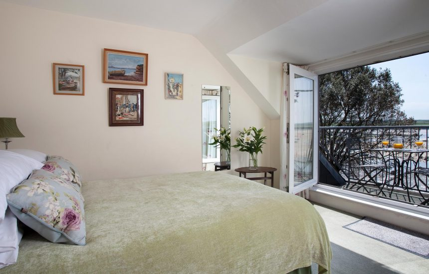 Bedroom one (master) at 2 Slipway, a self-catering holiday cottage in Rock, North Cornwall