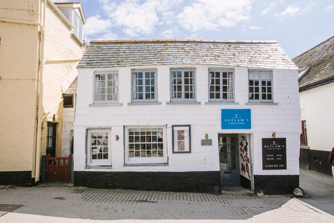 Nathan Outlaw's restaurant The Fish Kitchen, located just around the corner from our holiday cottage, 2 The Old Bakehouse
