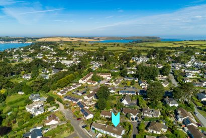 Aerial view of Fifty Little Trelyn, a self-catering holiday home in Rock, North Cornwall
