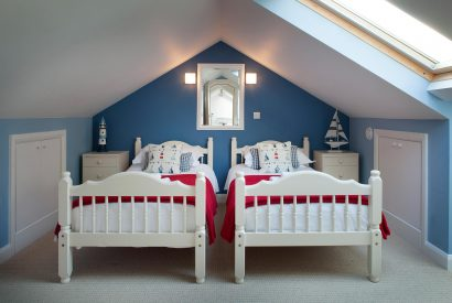 Bedroom two at Fifty Little Trelyn, a self-catering holiday cottage in Rock, North Cornwall