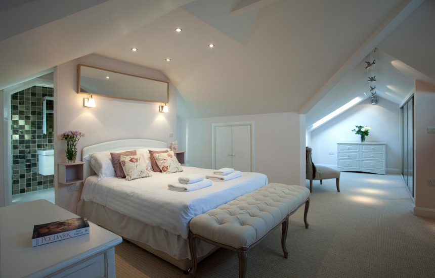 Master bedroom at Fifty Little Trelyn, a self-catering holiday home in Rock, North Cornwall