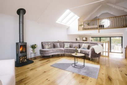Living room at Appleby, a self-catering holiday home near Daymer Bay, North Cornwall