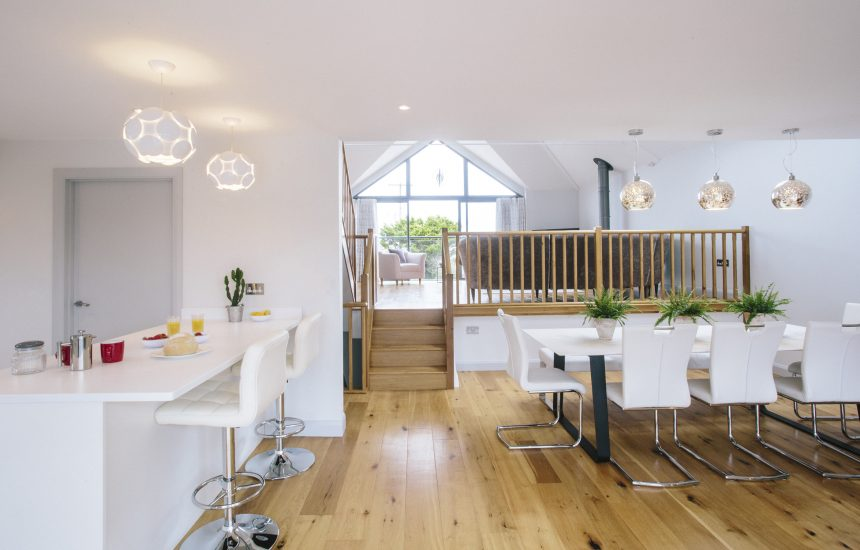 Kitchen and dining room at Appleby, a self-catering holiday home near Daymer Bay, North Cornwall