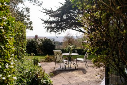 Patio at Badger Cottage, a self-catering holiday home in Rock, North Cornwall