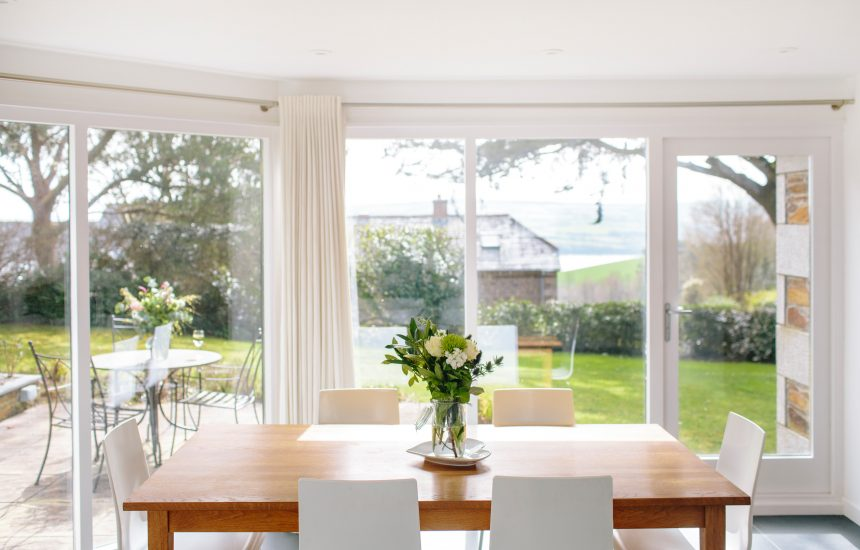 Dining room at Badger Cottage, a self-catering holiday home in Rock, North Cornwall