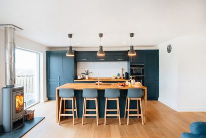 Kitchen at Brickwood, a self-catering holiday home in Rock, North Cornwall