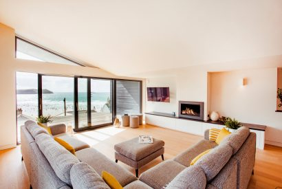 Living room at Coppers, a self-catering holiday home in New Polzeath, North Cornwall