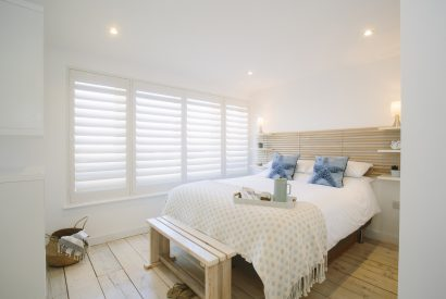 Master bedroom (bedroom one) at Drum Fish, a self-catering holiday home in Polzeath, North Cornwall