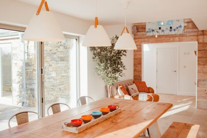 Dining are at Fiddlesticks a self-catering holiday property in Rock, North Cornwall