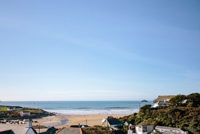 View from the balcony at Gwel an Mor, a self-catering holiday home in Polzeath, North Cornwall
