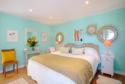 Master bedroom at Gwel an Mor, a self-catering holiday home in Polzeath, North Cornwall