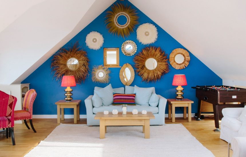 Living room at Gwel an Mor, a self-catering holiday home in Polzeath, North Cornwall