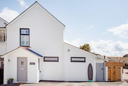 Front view of Hagervor House, a self-catering holiday home in Polzeath, North Cornwall
