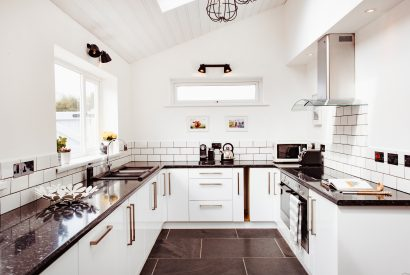 Kitchen at Hargervor House, a self-catering holiday home in Polzeath, North Cornwall