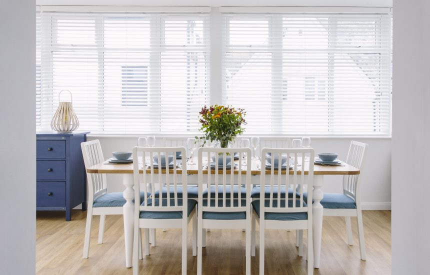 Dining area at Hillcote, a self-catering holiday home in New Polzeath, North Cornwall