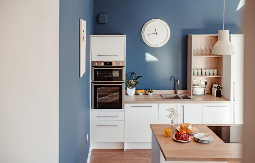 Kitchen at Lowena, a self-catering holiday home in Polzeath, North Cornwall