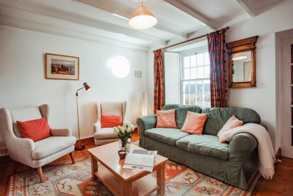 Living room at Lower Farm, a self-catering holiday cottage in Daymer Bay, North Cornwall