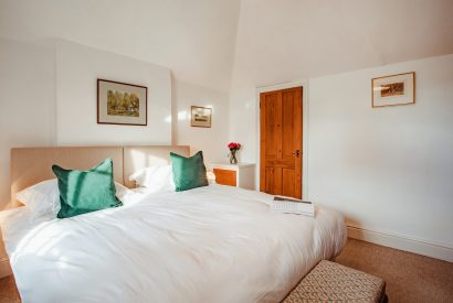 Master bedroom at Lower Farm, a self-catering holiday home in Daymer Bay, North Cornwall