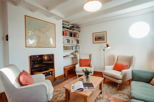 Lounge at Lower Farm, a self-catering holiday home in Daymer Bay, North Cornwall