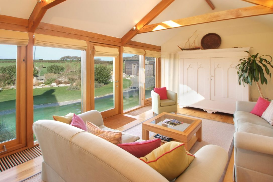 Garden room at Mesmear Farmhouse a self-catering holiday home in Polzeath, North Cornwall