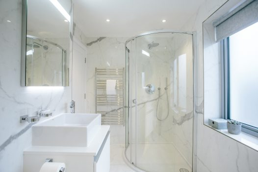 Bathroom at Parker's Place, a self-catering property in Polzeath, North Cornwall
