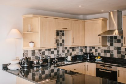 Kitchen at Pebble Rock, a self-catering holiday home in Rock, North Cornwall