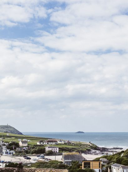 Polzeath Beach is right behind Seabreeze, a self-catering holiday cottage in Polzeath, North Cornwall