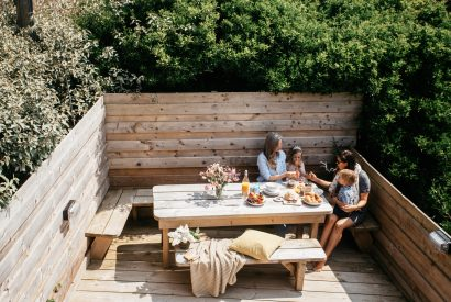 Outside space at Seabreeze, a self-catering holiday home in Polzeath, North Cornwall