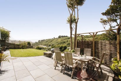 Garden at Seahouse, a self-catering holiday cottage in Polzeath, North Cornwall
