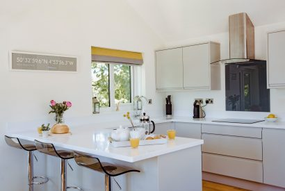 Kitchen at Skovva, a self-catering holiday home in Rock, North Cornwall