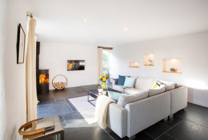 Lounge at The Barn, a self-catering holiday home near Polzeath, North Cornwall