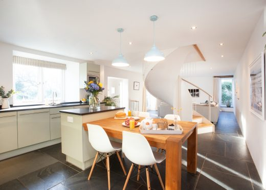 Kitchen at The Barn, a self-catering holiday home near Polzeath, North Cornwall