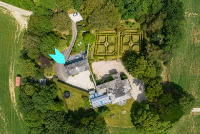 Bird's eye view of The Coach House, a self-catering holiday home near Rock, North Cornwall