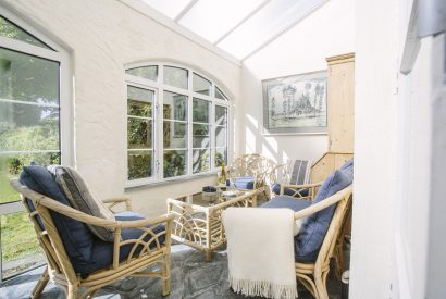 Convervatory at The Crispin, a self-catering holiday house in Rock, North Cornwall