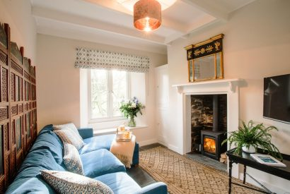 Lounge at The Gate House, a self-catering holiday home between Rock and Wadebridge, North Cornwall