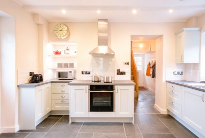 Kitchen at The Gate House, a self-catering holiday home between Rock and Wadebridge, North Cornwall