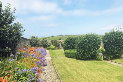 Walled garden at The Linhaye, a self-catering holiday home in Port Isaac, North Cornwall