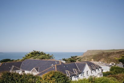 View from The Penthouse, a luxury apartment in New Polzeath, North Cornwall