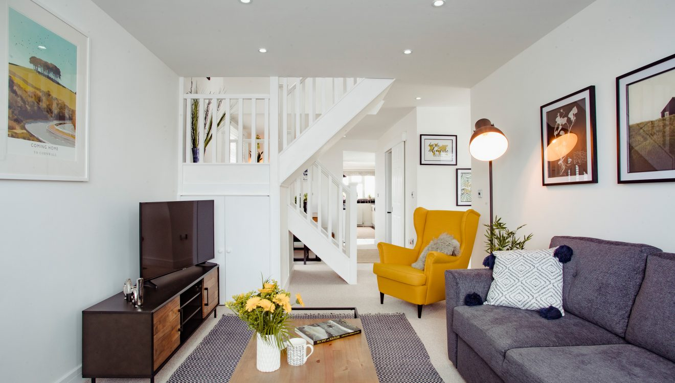 Lounge at The Port House, a self-catering holiday home in Port Isaac, North Cornwall