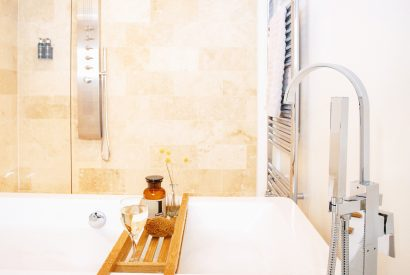 Bathroom at The Tractor Shed, a self-catering holiday home in Polzeath, North Cornwall