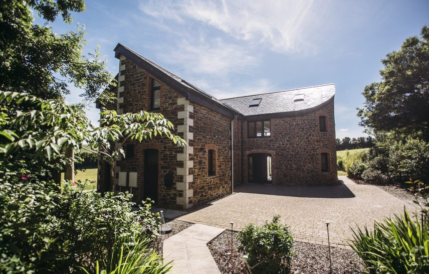 The front of the Woodshed, a self-catering holiday cottage near Rock, North Cornwall