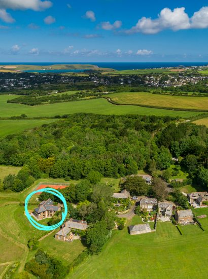 The view at The Woodshed, a self-catering holiday home in Rock, North Cornwall
