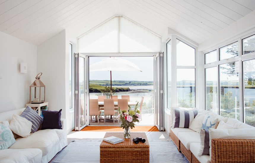 Sunroom at Trethwaite, a self-catering holiday home above Porthilly Beach, Rock, North Cornwall