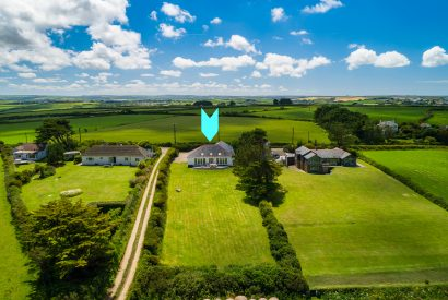 Aerial view of Troy, a self-catering holiday home near Polzeath, North Cornwall